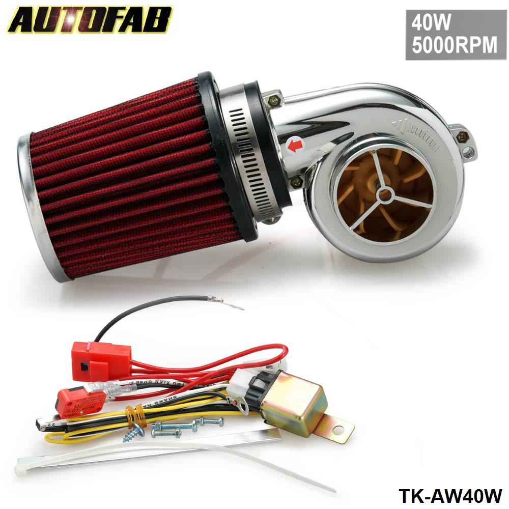 AUTOFAB - NEW MOTOR ELECTRICAL TURBOCHARGE 40W 5000RPM / SUPERCHARGER KIT / UNIVERSAL FIT RIDE ON MOWER TK-AW40W