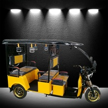 new model closed electric tricycle passenger bajaj auto electric rickshaw 48v1000w in bangladesh india Vietnam Thailand