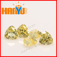 Fashion golden trillion cut cubic zirconia accessories