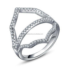 925 Sterling Silver Lady's Ring Rhodium Plated Ring fien jewelry wholesale from China