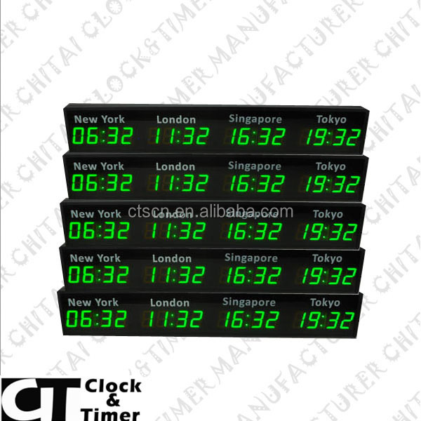 Alibaba Express LED Mini Multi Zone Digital World Time Zone Clock