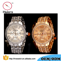 Crystal rhinestone luxury watch/fashion mens quartz watch/Geneva Quartz Wristwatch