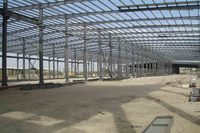 Steel frame logistics warehouse