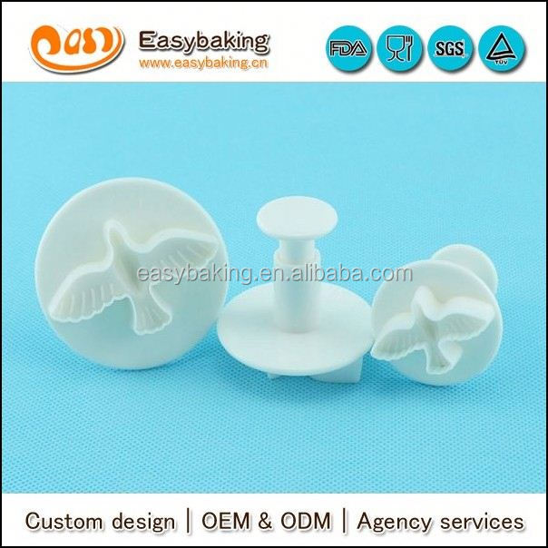 Cake Decorating Plunger Cutter Dove Shape Fondant Cutter