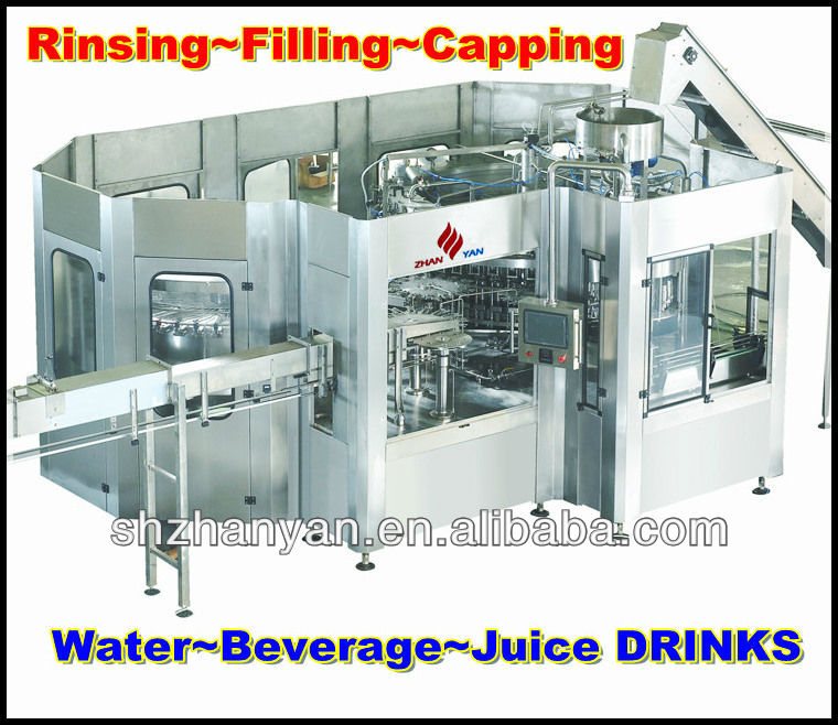 Automatic 3 in 1 bottle Filling Machine for water beverage juice