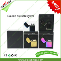 new products 2016 innovative product luxury cigarette lighters Top quality Double arc lighter