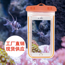 Best Selling Customized PVC 100% sealed Waterproof Cell Phone Bag in Swimming for mobile phone