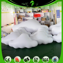 Hanging Inflatable White Clouds Shape Balloons, Floating Clouds For Concert Decoration