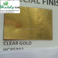 Electrostatic powder coating clear gold