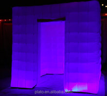 New design customized inflatable photo booth, cheap led inflatable cube tent for event/wedding