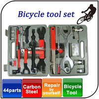 Repair work of tyres brakes chains 44pcs carbon steel materials professional bike bicycle repair tool set