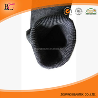 Black knitted tubular seamless rib fabric for cuff