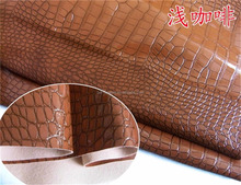 Crocodile Skin Pattern Red Colored PVC Synthetic Leather for Hand Bag Luggage Wallet, imitation leather