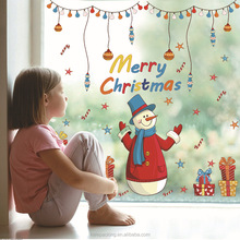 SK9091 Hot Sell christmas window transparent stickers