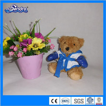 fashion stuffed plush teddy bears wear clothe and gloves
