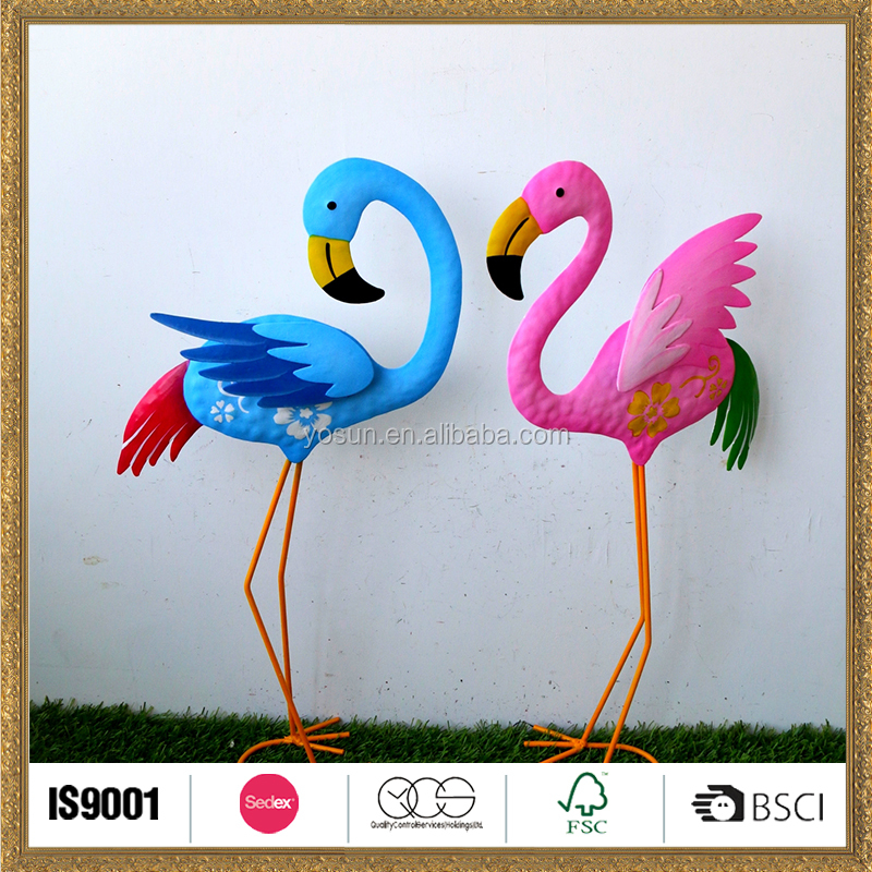 Cute creative metal garden art bird ornament