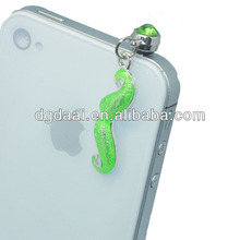 Customized logo promotional gift mustache cute mobile phone charm plug