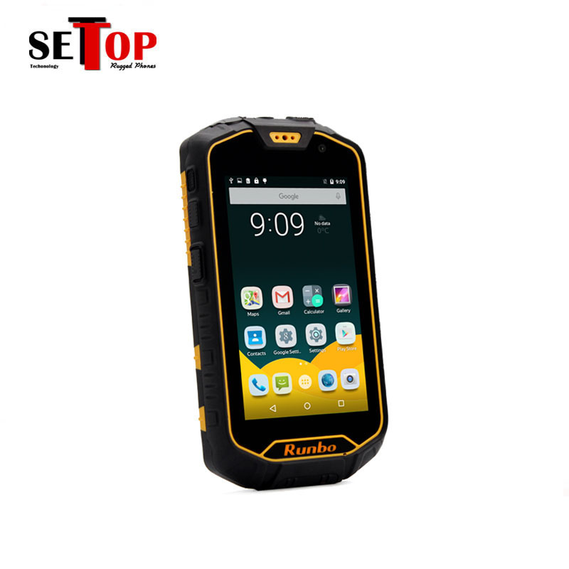Cheap Runbo Q5 IP67 4G LTE Rugged Smart android phone 4.5 Inch quad core 2gb ram mobile phone with UHF VHF WIFI walkie talkie