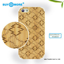 mobile accessories tpu pc bamboo stand case for iphone 5s