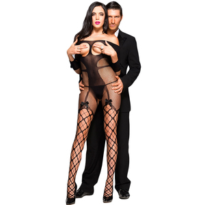 Wholesale Sexy Bodystocking Open Cup Fishnet Off Shoulder Body Stocking