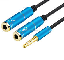 30CM 3.5mm Headphone Mic Audio Y Splitter Cable Male to Dual Female Converter Adapter