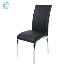 comfortable modern PU four legs stainless steel dining chair