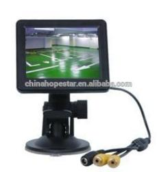 Small size LCD AV input 3.5 inch CCTV monitor car rearview usage