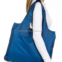 Cheap Price Large Capacity Tote Reusable Nylon Folding Shopping Bag