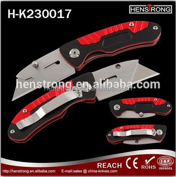 New Design Aluminum Handle Stainless Steel Utility Cutting Knife