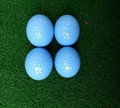 one layer colored golf practice ball restricted distance