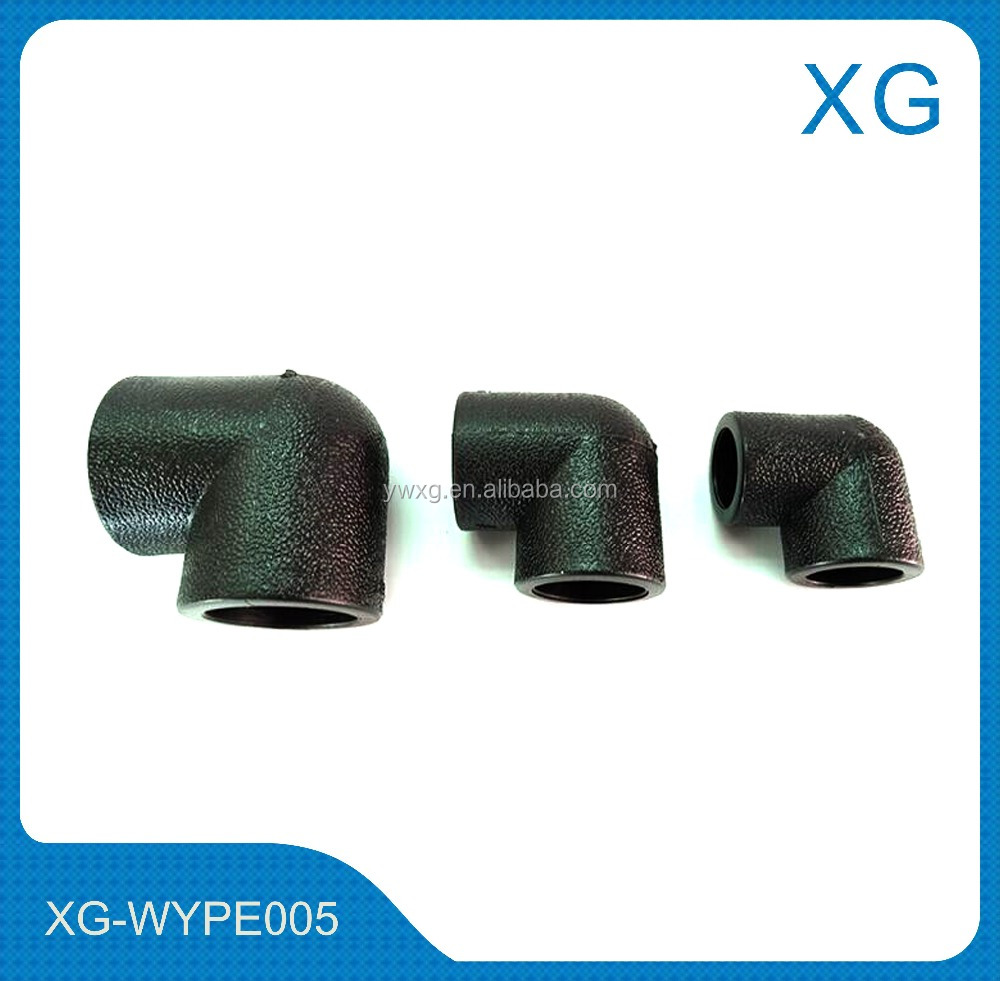 Heavy duty high pressure PE pipe fittings reducing elbow/hdpe elbow/plastic PE water pipe fittings