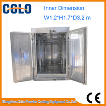 Batch curing oven Electric powder coating oven with rail