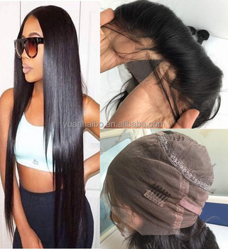 New Arrival 360 wigs brazilian virgin hair silky straight 360 lace frontal wig pre plucked natural hairline