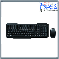 Cheap wireless keyboard and mouse with arrtactive design