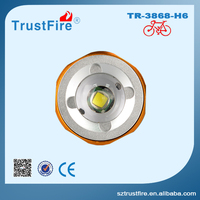 Emergency strobe automotive headlights TrustFire 3868 H6 night rechargeable led headlamp, zoom focus projector headlight