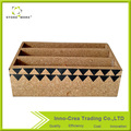 3 Compartments Durable Office Cork File Holder