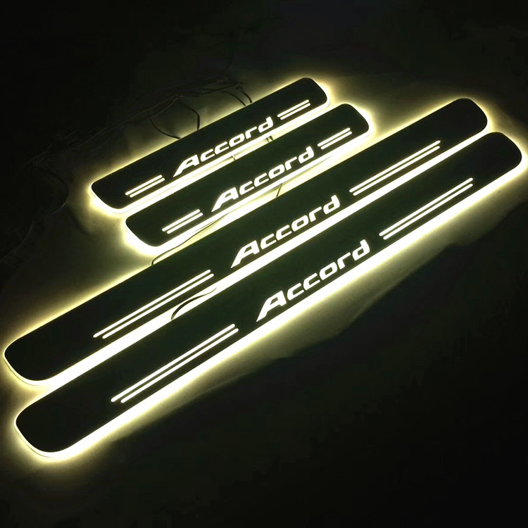 Custom car logo Moving LED Welcome Pedal Car Scuff Plate Pedal Door Sill