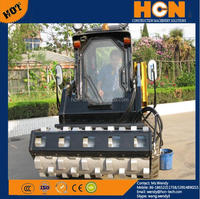 HCN 0204 Skid Steer Loader attachments Padded Drum Vibratory Roller cheap price