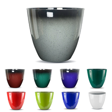 2018 Amazon Hot Sale New Item Egg Cup Planter Large Plastic Plant Pot Shinny Glazed Plastic Planter
