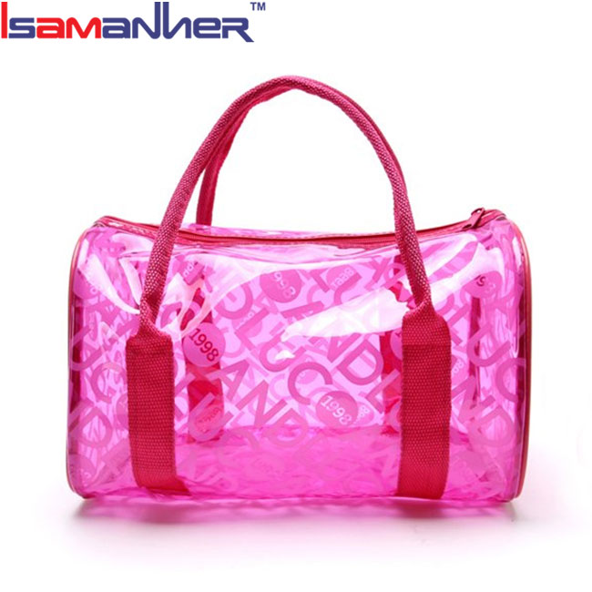 Waterproof clear pvc jelly tote bag casual cute trendy handbags for girls