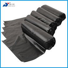 Promotional LDPE HDPE Flap tie plastic trash bag on roll for tall kitchen packaging large garbage bags with extra strong film