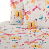 butterfly printing cotton bedding quilt cover duvet Set