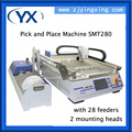 High-precision And Fast Speed PCB Production Line Pick and Place Machine SMT280 With 28 Feeders+2 Heads