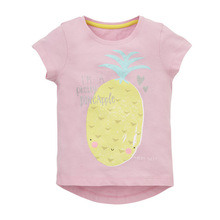 Baby Girls Clothes 2018 Brand Baby T-shirt Kids Clothing Pineapple Pattern Girls Summer Tops Tees 100% Cotton Children T shirts