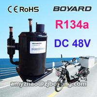 Cold chain logistics last mile air conditioner compressor JVB058Z48 rotary type for transportation refrigeration tricycle
