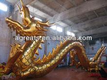 Chinese Dragon Balloon, Inflatable Gold Dragon S2036