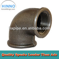 Black malleable iron pipe fittings dimension iso49