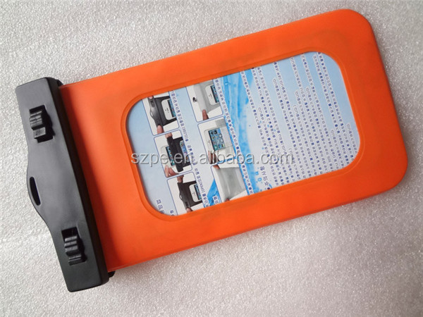 Orange Waterproof Pouch Bag Dry Case Cover for iPhone for Samsung MP3