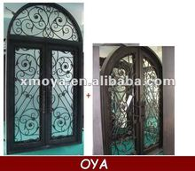 Iron entry grill door panel design steel glass inserts vent door
