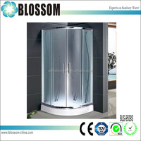 China OEM curved tempered glass sliding prefabricated shower enclosures